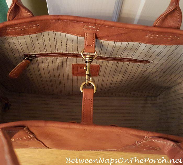 Frye Bag, Clip together to hold items inside bag