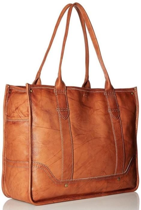 Frye Campus Shopper in Saddle Brown