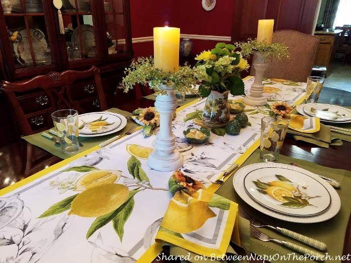 Italian Lemon Themed Table Setting