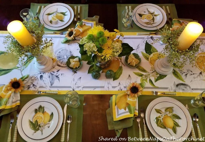 Italian, Sorrento, Lemon Table Setting