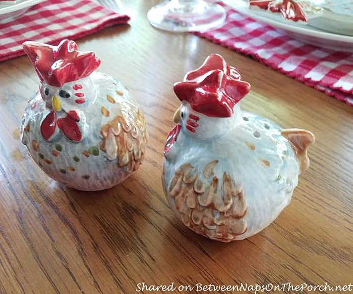 Jacques Pepin Chicken Salt & Pepper Shakers