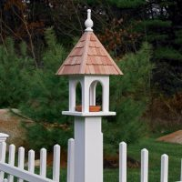 Lazy Hill Bird Feeder with Dish for Mealworms or Seed