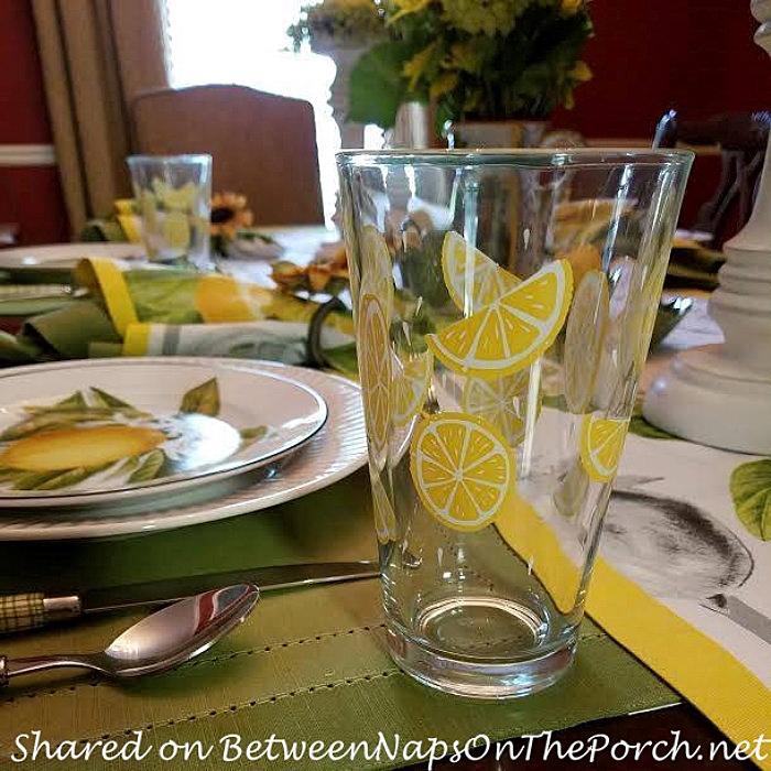 Lemon Glassware