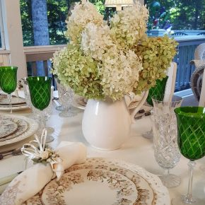 Limelight Hydrangeas for a Summer Table Setting