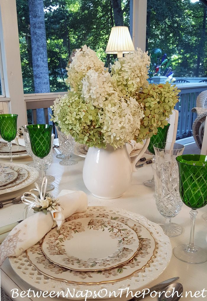 Limelight Hydrangeas for a Summer Table Setting