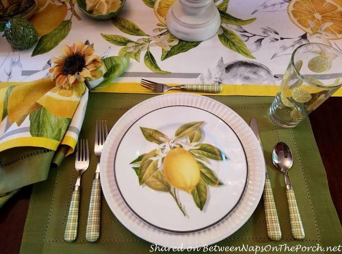 Meyer Lemon Salad Plate