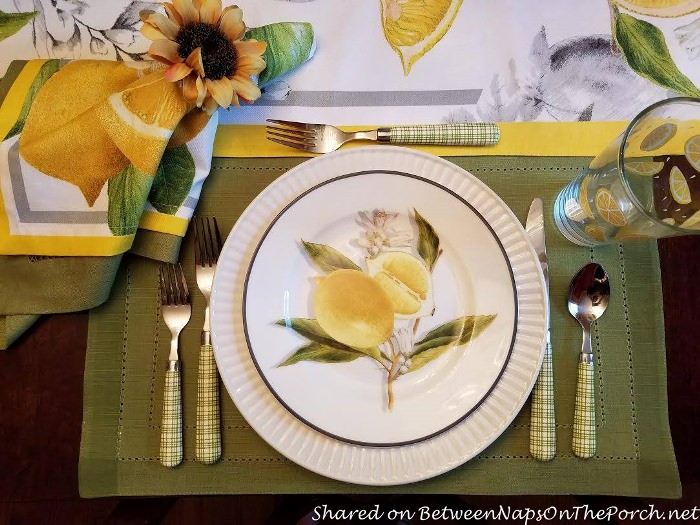 Lemon Themed Table Setting Reminiscent Of Sorrento Italy