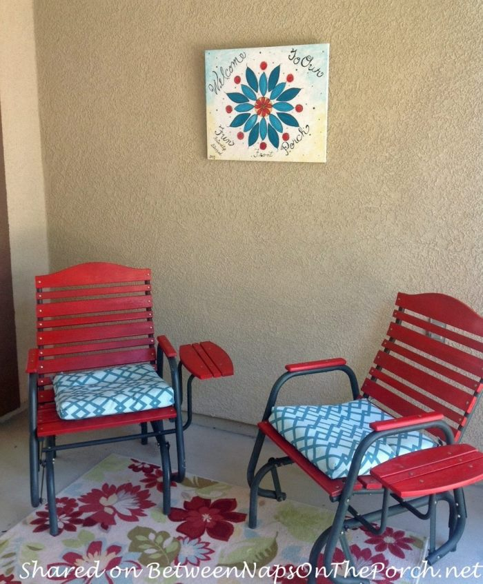 Paint Chair Red for Porch Makeover