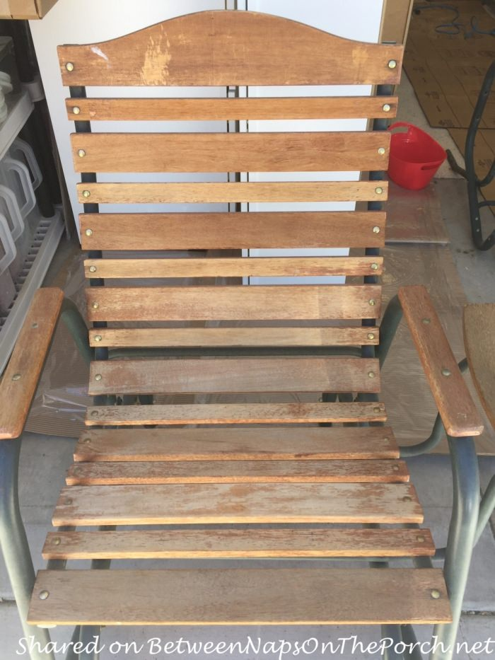 Porch Makeover, Chair Before