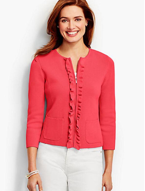 Ruffle Sweater-Jacket