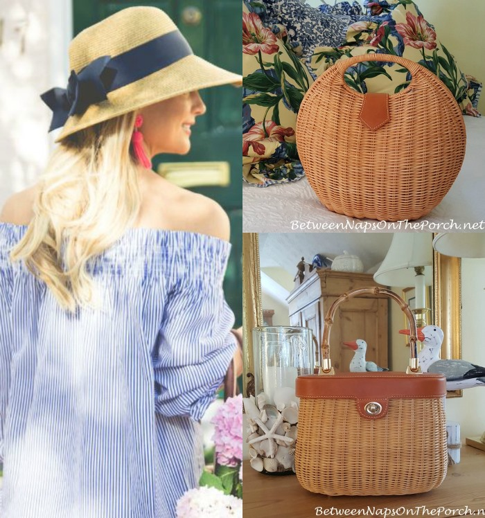 J. Mclaughlin Wicker Bags and Sunhat