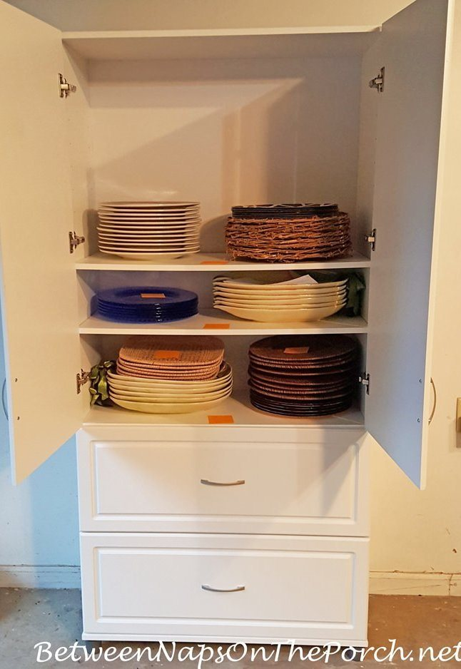 Dishware and Charger Storage