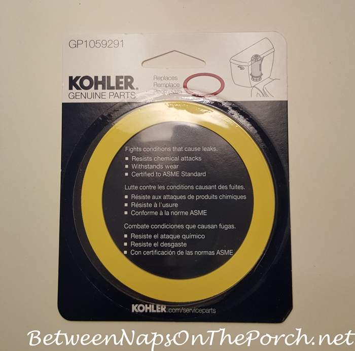 Yellow Seal to Repair Leaking Kohler Highline Toilet