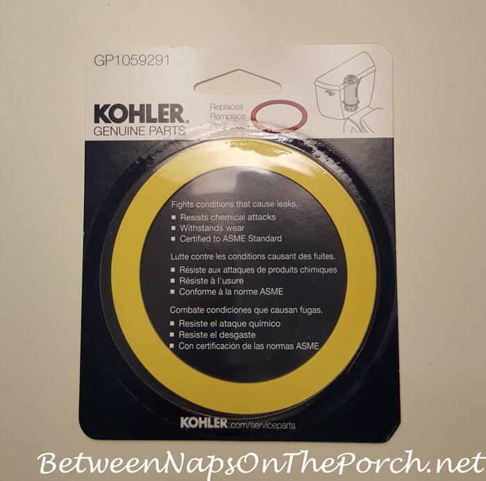 Yellow Seal to Repair Leaking Kohler Highline Toilet