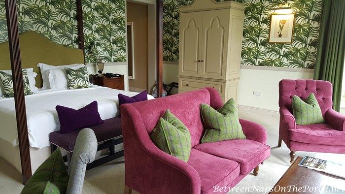 Bedroom in Ballynahinch Castle, Ireland