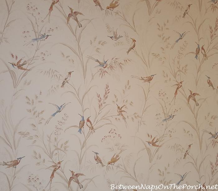 Bird Wallpaper, Bathroom, Ballynahinch Castle, Ireland