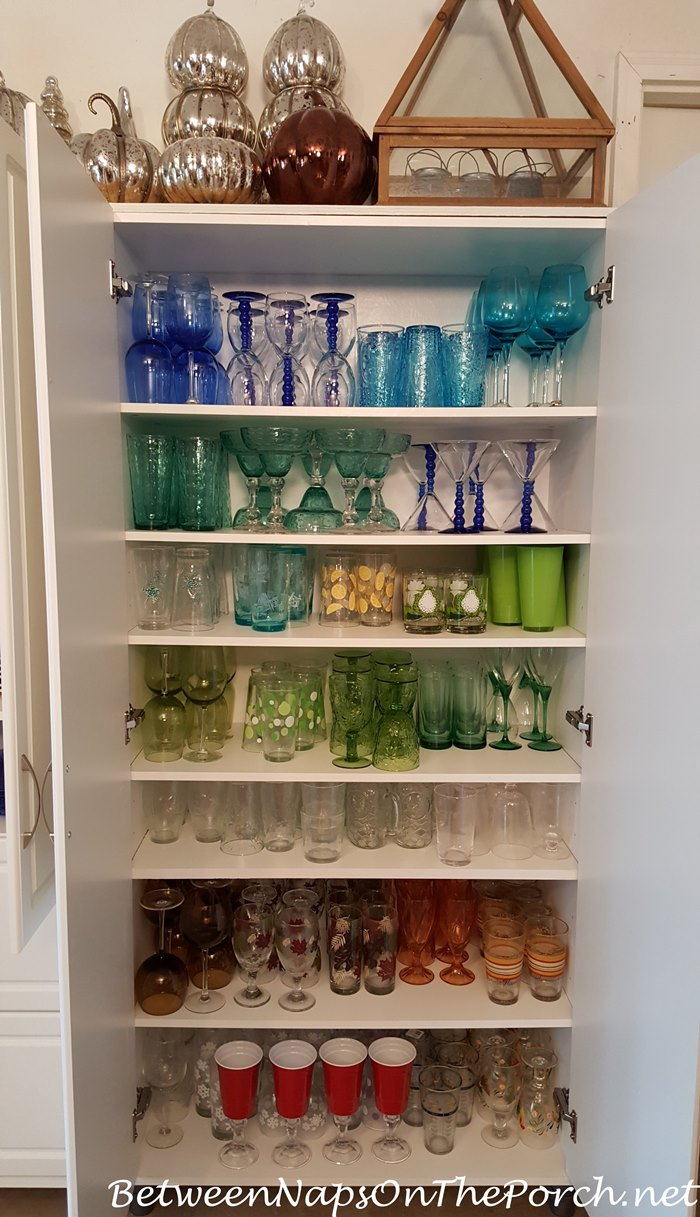 Cabinet Glassware Storage Ideas