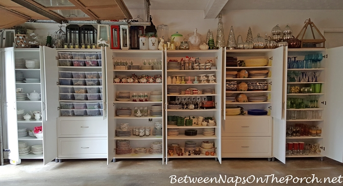 Cabinet Storage for Dishware, Glassware, Flatware and Napkins