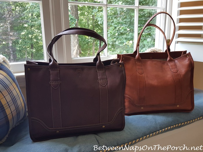 Frye Shopper Tote, Walnut and Saddle Color