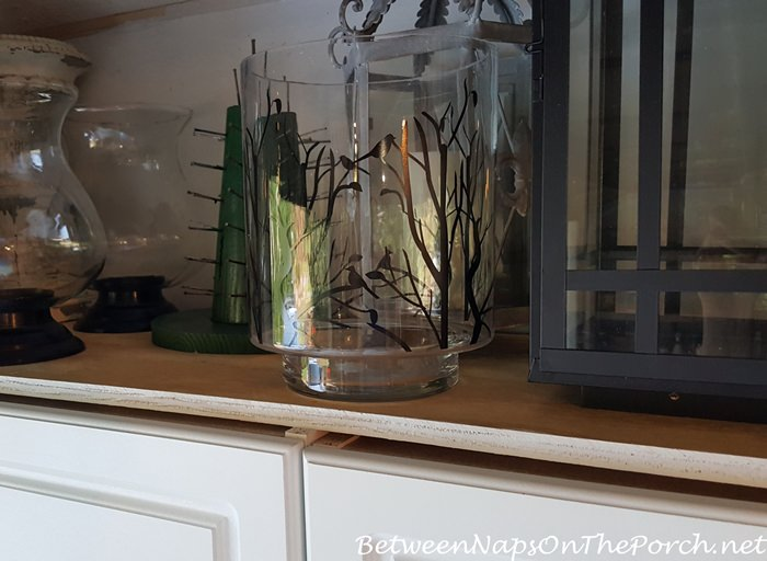 Lantern Storage Above Cabinets with Thick Plywood