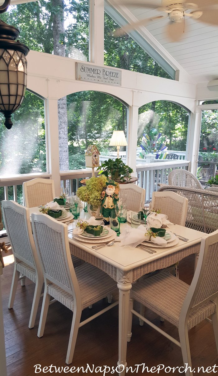 Screened Porch Dining and Entertaining