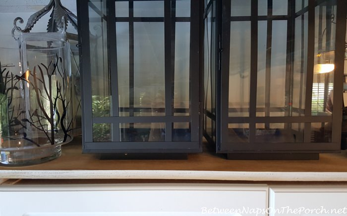 Three Quarter Inch Plywood for Lantern Storage Atop Cabinets