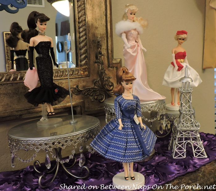 Vintage Barbies Displayed for Birthday Party