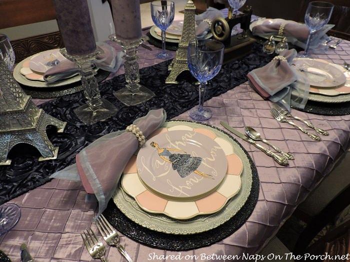 Vintage Style & Fashion on Salad Plates