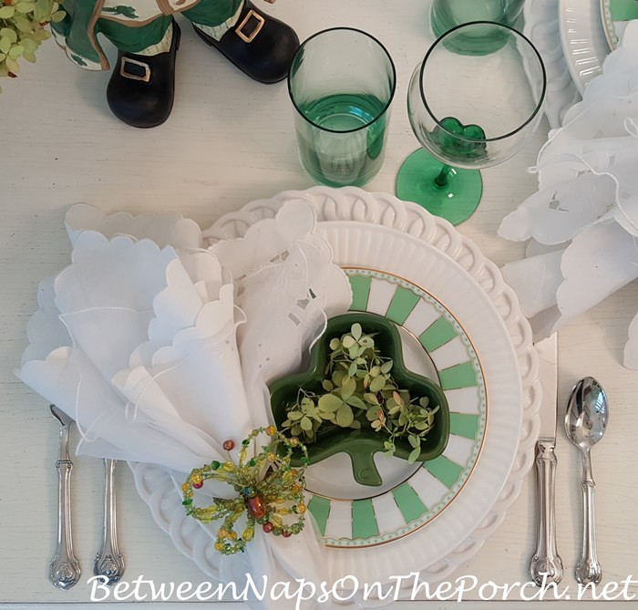 Whimsical Green & White Table Setting with Noritake Carnivale Dinnerware