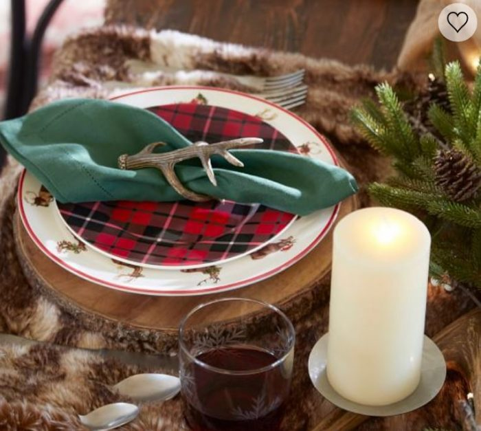 Bark Chargers for Holiday Tables