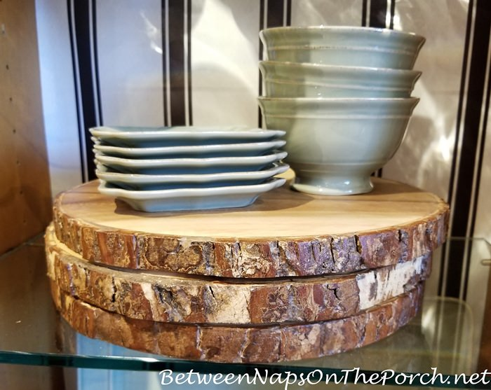 Bark Edged Charger Plates and Servers