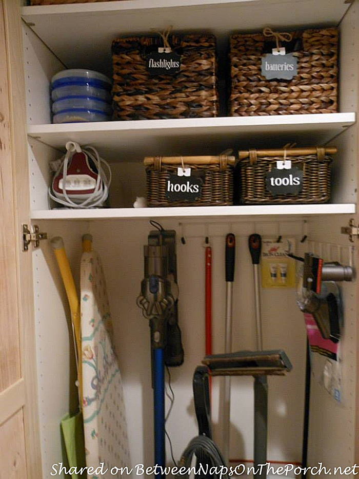 Basket Storage for Household Items and Tools