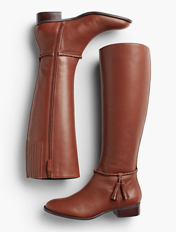 Braid and Tassel Riding Boots