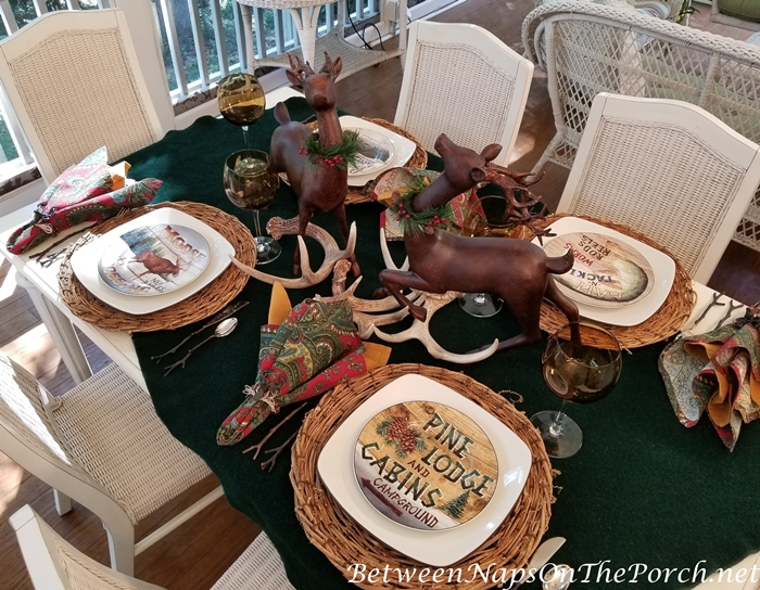 Cabin Lodge Themed Table with David Carter Brown's Country Lodge Plates