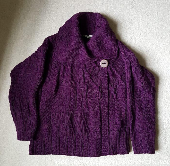 Carraigdonn Merino Wool Sweater, Violet