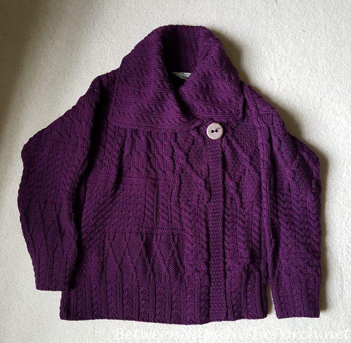 Carraigdonn Merino Wool Sweater, Violet