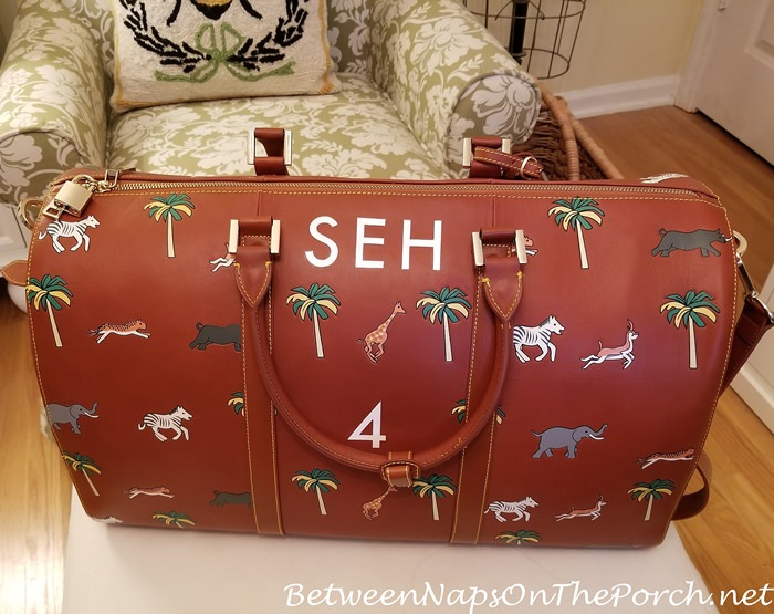Darjeeling Limited Luggage Customized with Hand-painted Initials, by Very Troubled Child