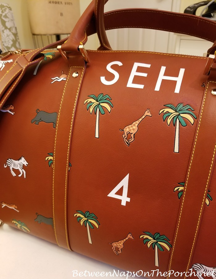 Darjeeling Limited Safari Bag with Hand-Painted Initials, Very Troubled Child