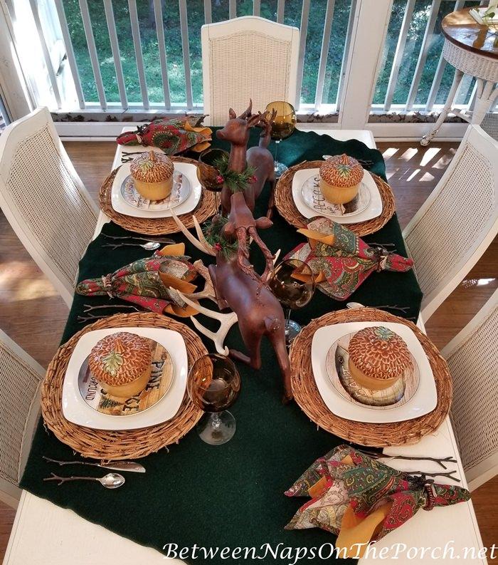 Fall-Autumn Tablescape, Lodge Theme