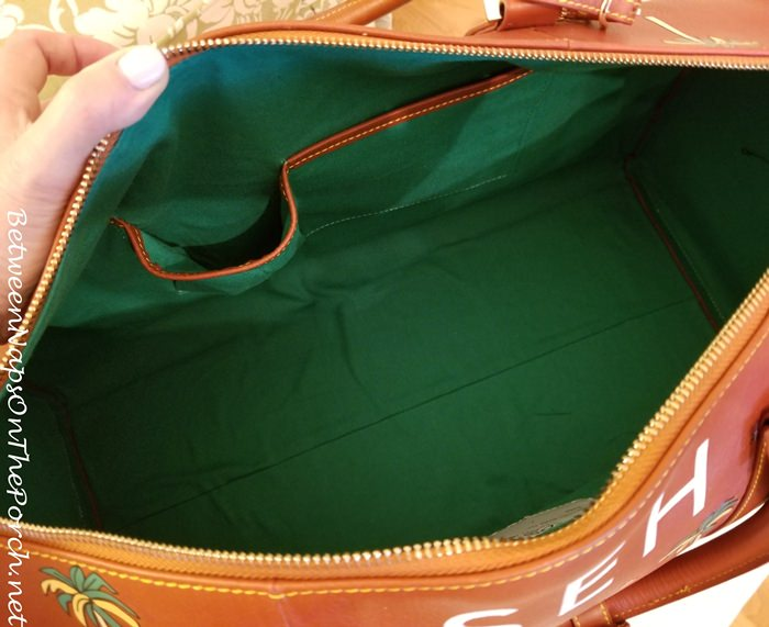 Green Interior of the Darjeeling Limited Safari Bag by Very Troubled Child