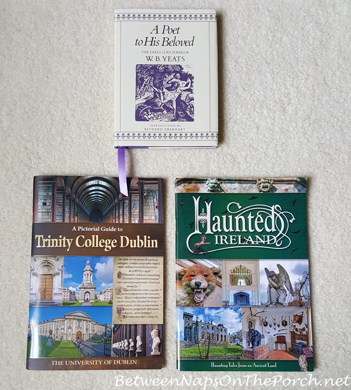 Haunted Ireland Book, Book with photos of The Long Room, W. B. Yeats Poems