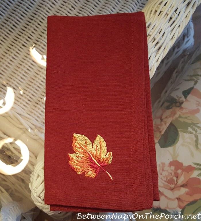 Leaf Napkins for Fall-Autumn