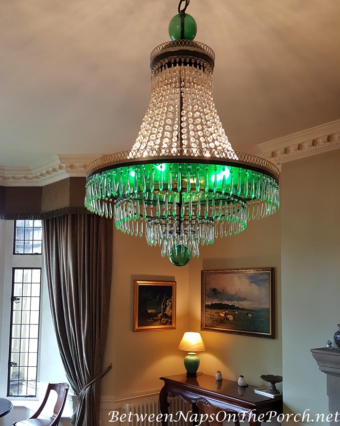 Lough Eske Green Chandelier