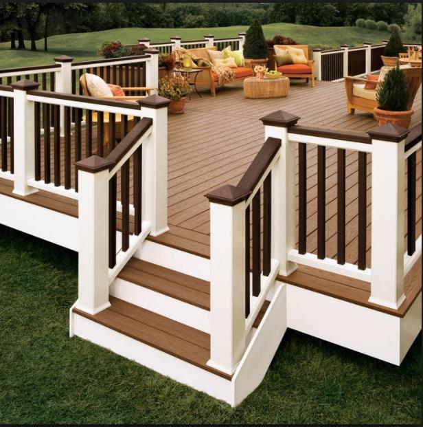 Paint Deck Rails Brown to Hide Dirt Between Cleanings