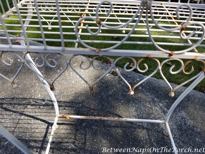 Painting a rusted plant stand