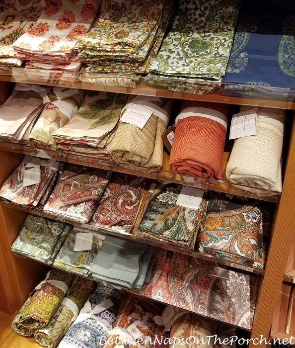 Paisley Napkins for Fall Autumn Table Settings, Entertaining and Dining