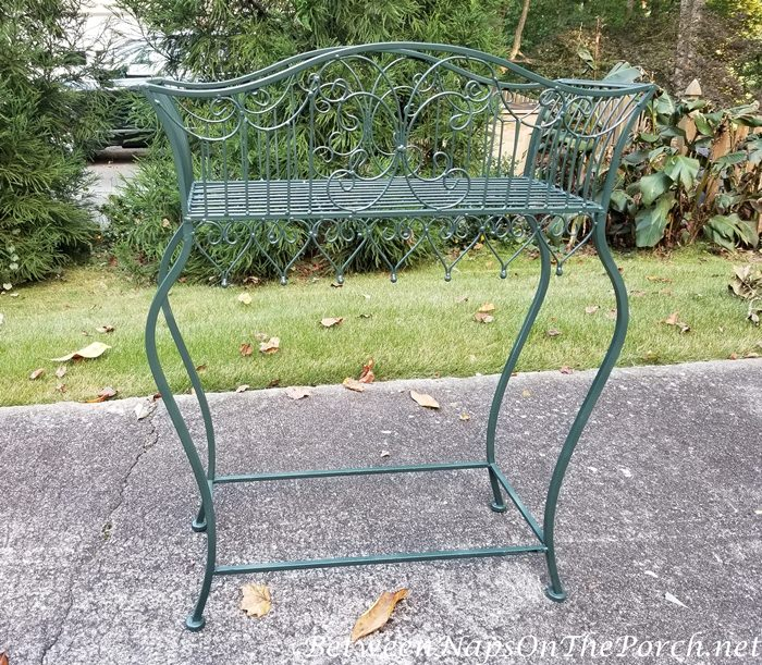Plant Stand Painted Green DIY Paint Project