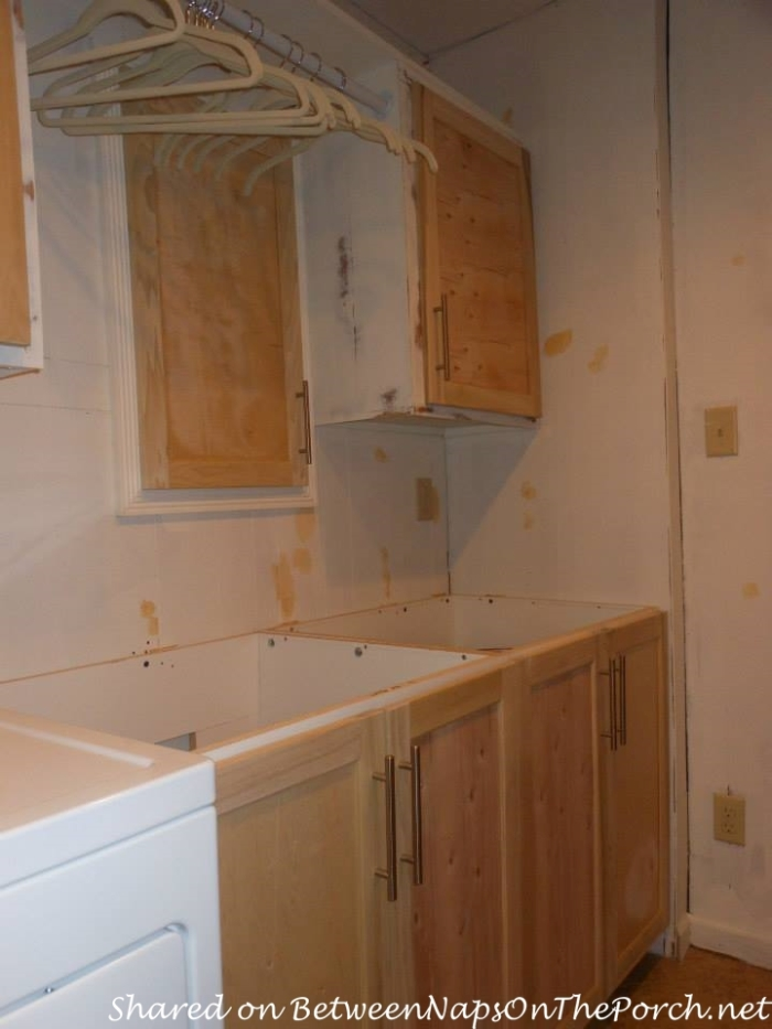Remodel an old workroom into a beautiful Laundry Room