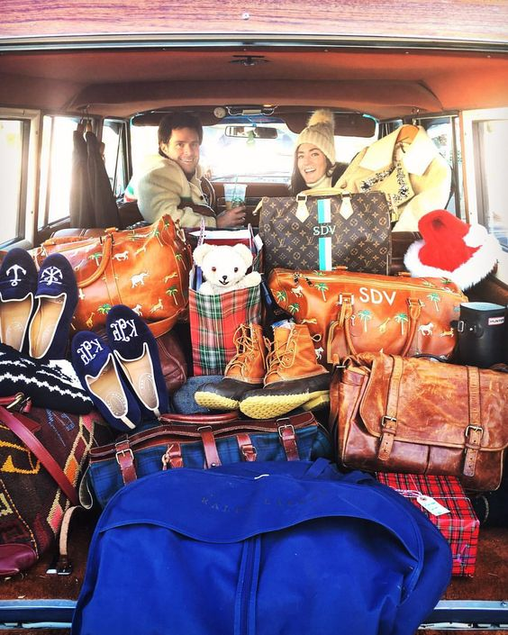 Safari Luggage Seen on Kiel James Patrick, Instagram