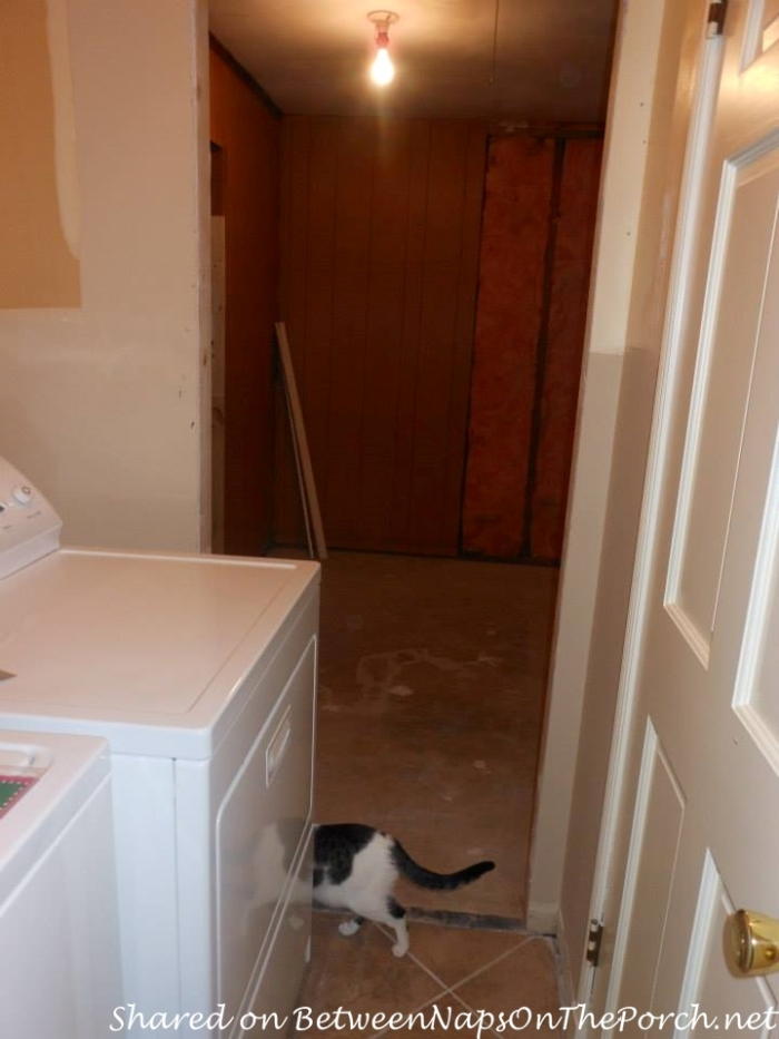 Start of Laundry Room, Pantry Makeover